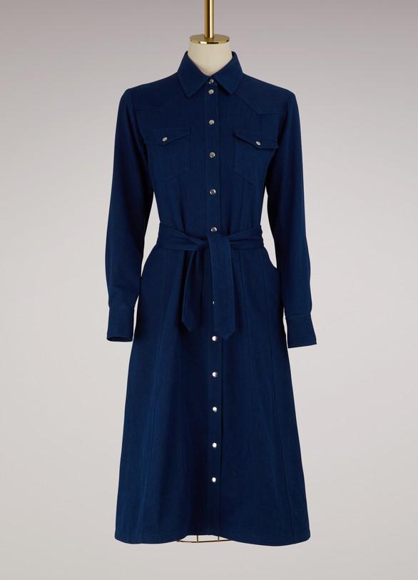 A.P.C.Robe Annie en coton