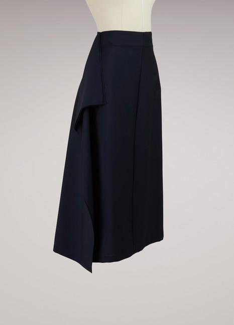 JIL SANDERJupe drapé en laine