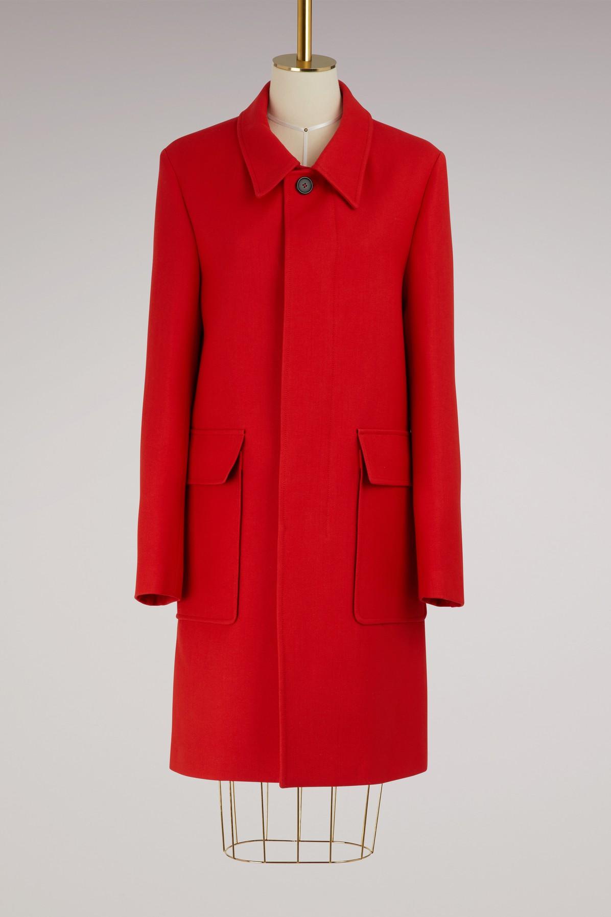 AMI | Straight wool coat | Goxip