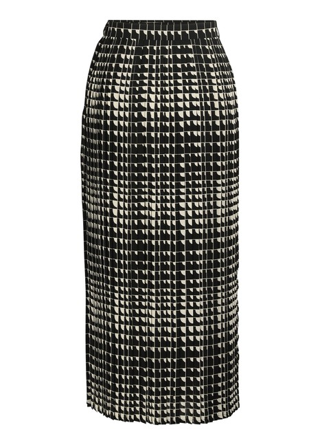 CELINEPleated maxi skirt in angle print georgette
