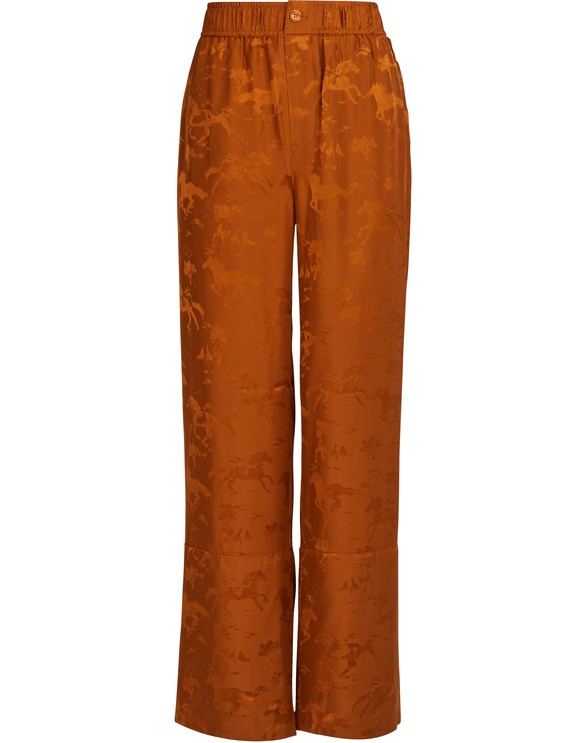 GANNI Ackerly silk pants