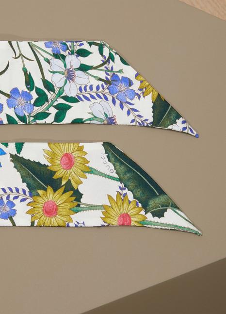 GucciNoeud de cou en soie à imprimé nouveau flora