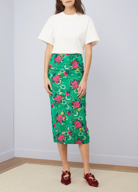 MarniStraight midi skirt