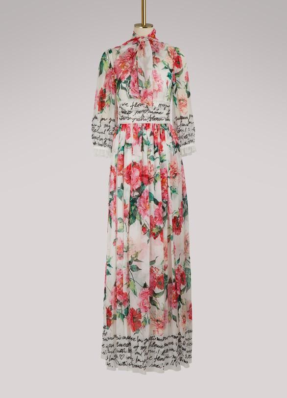 Dolce & GabbanaRobe longue Roses