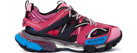 Balenciaga Track Logo-Detailed Mesh And Rubber Sneakers In Pink