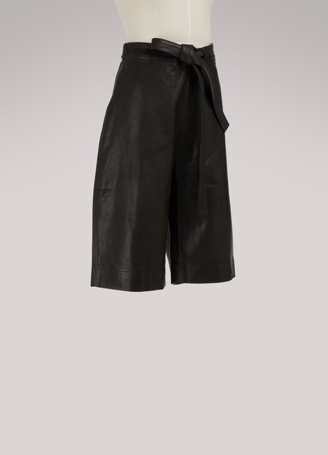JW AndersonLeather shorts
