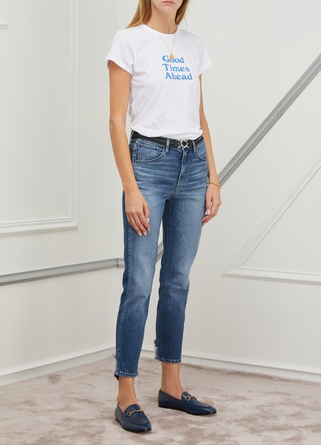 3 X 1W3 straight authentic crop jeans