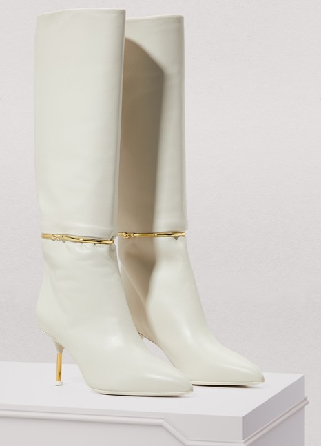 Jil Sander Ring leather boots