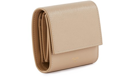 CELINESmall trifold wallet in grained calskin