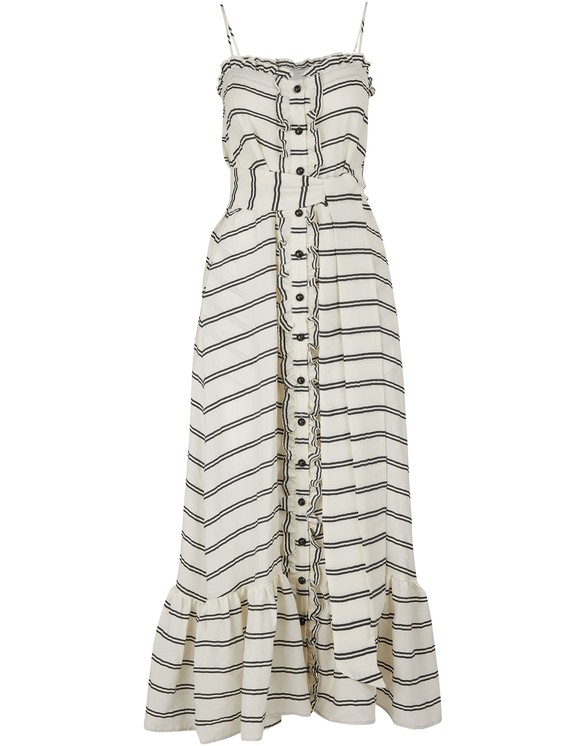 LISA MARIE FERNANDEZ Buttoned maxi dress