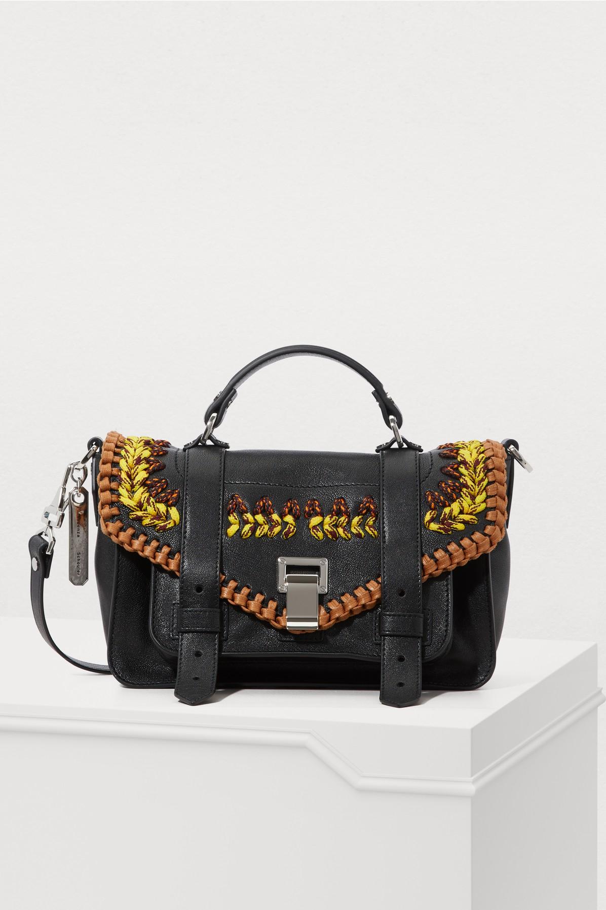 Proenza Schouler Ps1 Tiny Shoulder Bag In Black   ModeSens a7c2247791