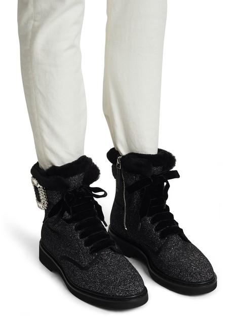 ROGER VIVIERViv Rangers fur ankle boots
