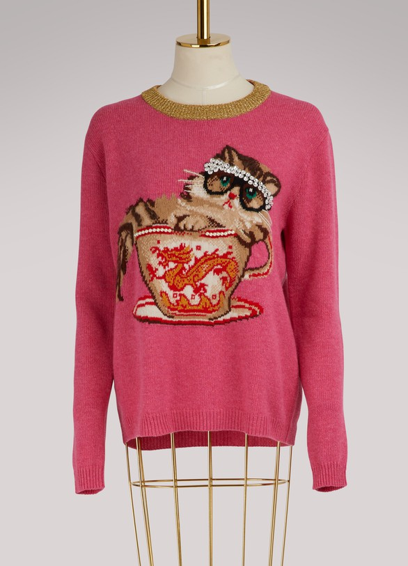 GucciCat & Glasses knit sweater