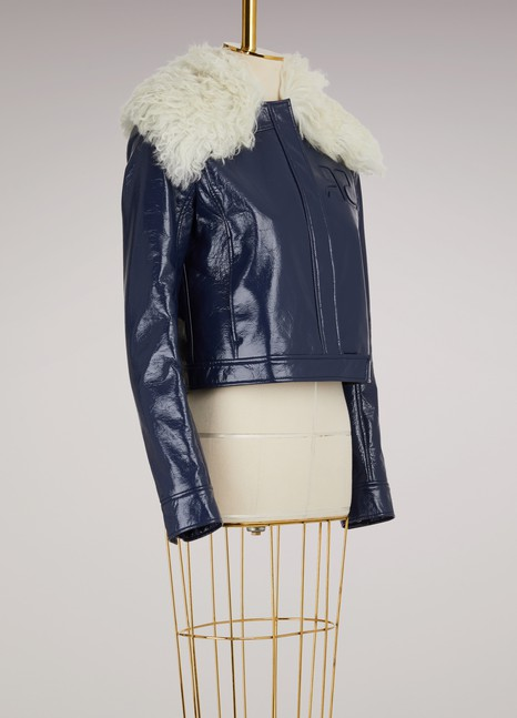 Courrèges Shearling Collar Jacket