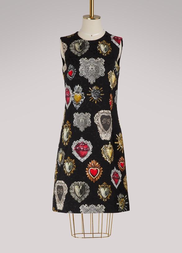 Dolce & GabbanaRobe imprimé cœur