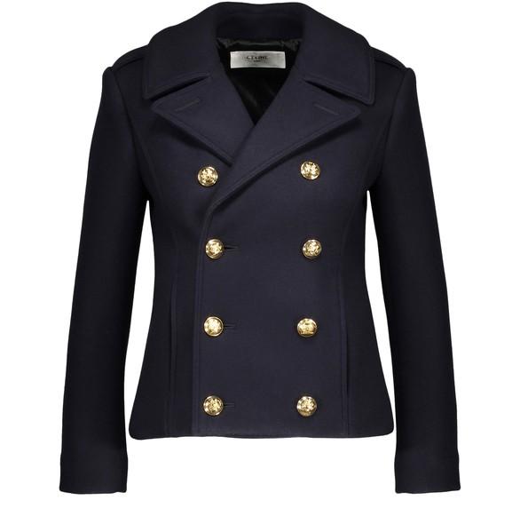 CELINEClassic cropped woollen pea coat