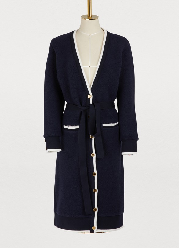 Thom Browne Long wool cardigan
