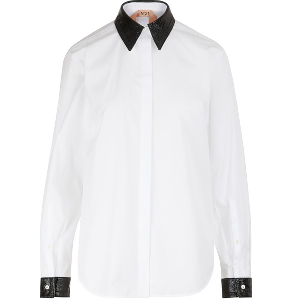 N 21 Jewelled collar shirt