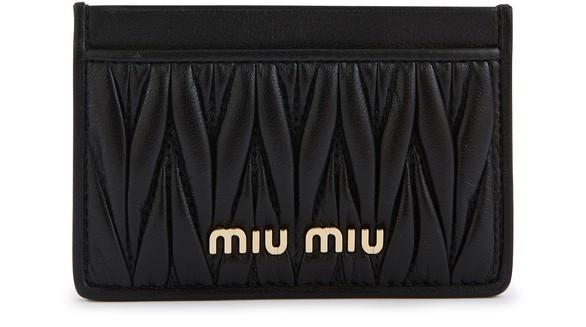 MIU MIU Quilted card holder