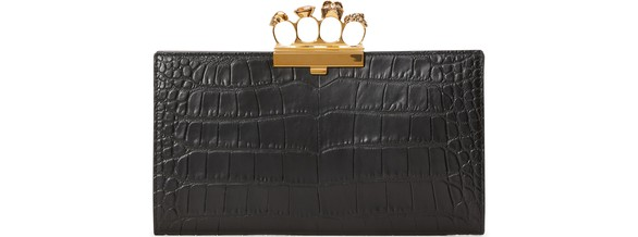 ALEXANDER MCQUEEN Four Ring clutch