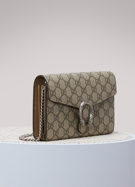 GUCCI Dionysus leather mini bag with chain