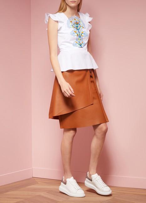 Acne StudiosLeather Lakos Wrap Skirt