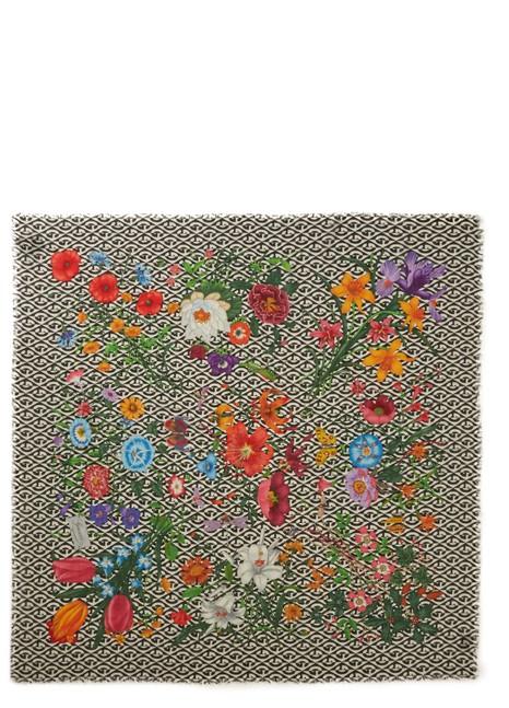 GUCCIGG Flora printed wool scarf