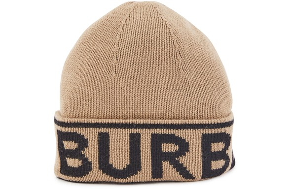 BURBERRYCashmere hat with logo