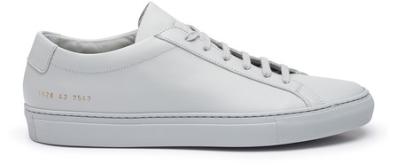 Common Projects Original Achilles Low-Top Leather Trainers In Grey