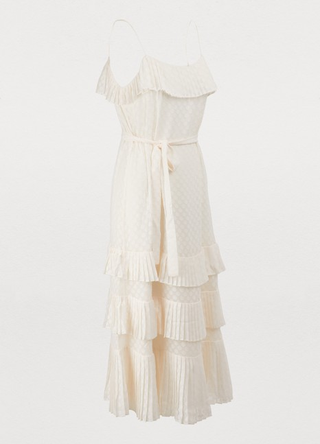 ZimmermannPleated midi dress