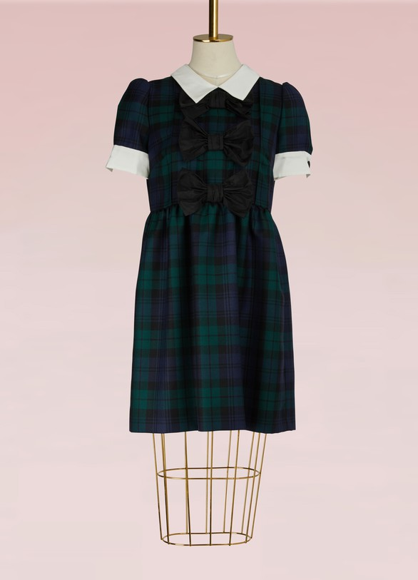 Miu Miu Tartan Mini Dress