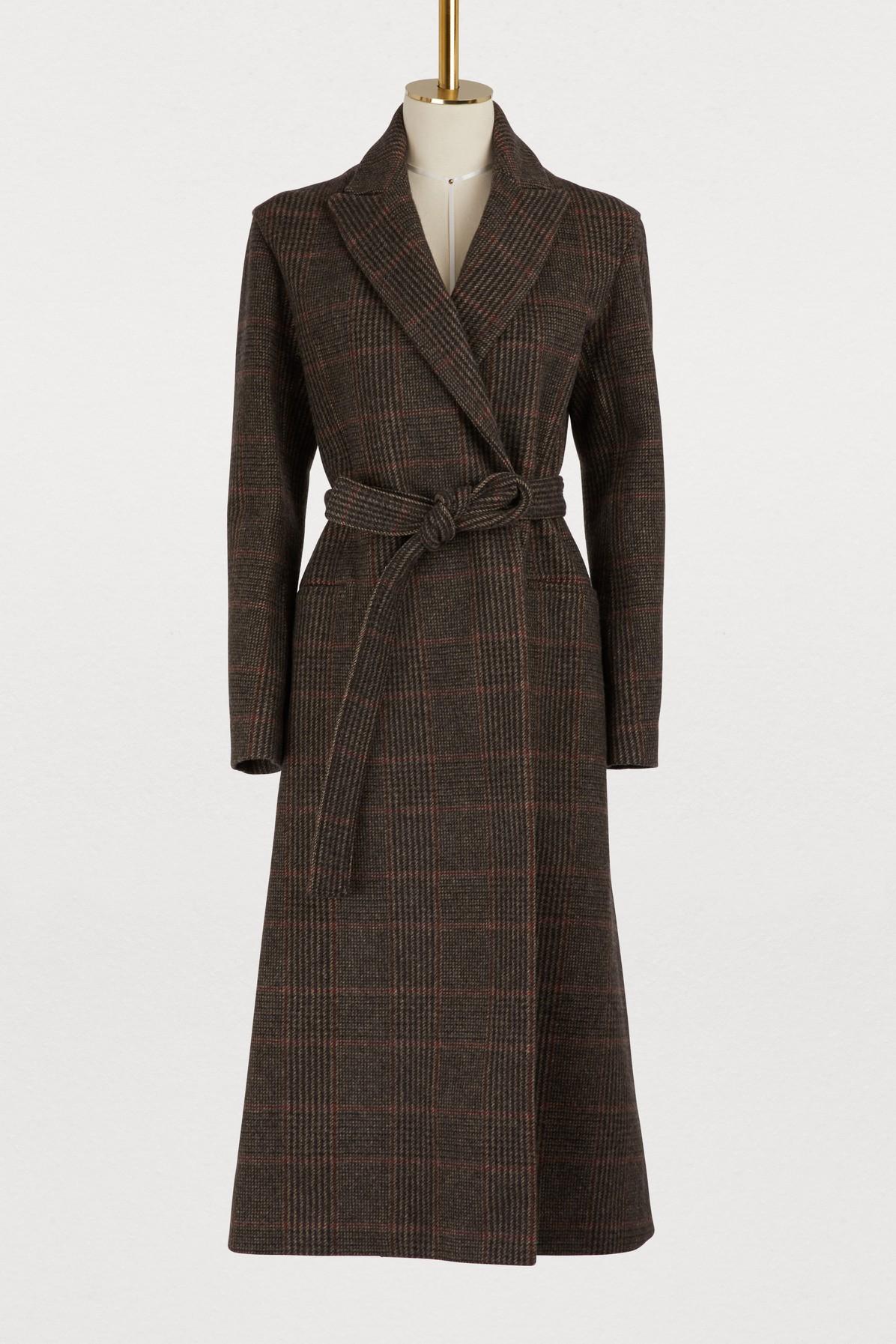 Manteau long avec ceinture
