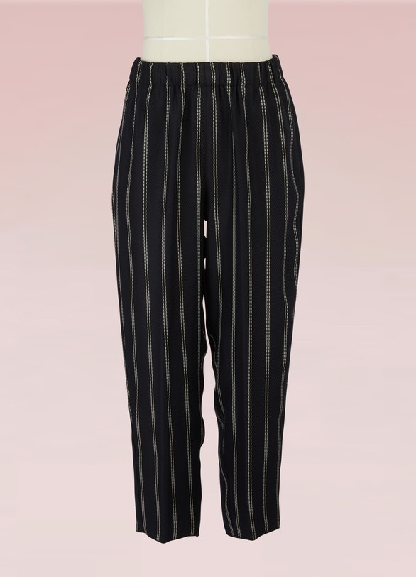 Forte_Forte Loose striped pants