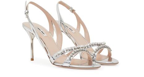 MIU MIURhinestone sandals
