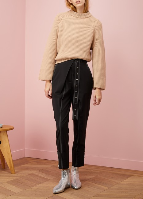 Nina RicciLong-sleeved ribbed sweater