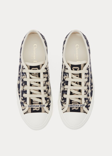fb6b49c3 Walk'n'Dior Oblique embroidered canvas sneakers
