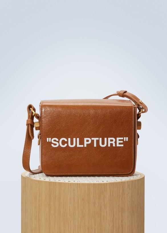 """Off WhiteSac """"Sculpture"""" en cuir"""