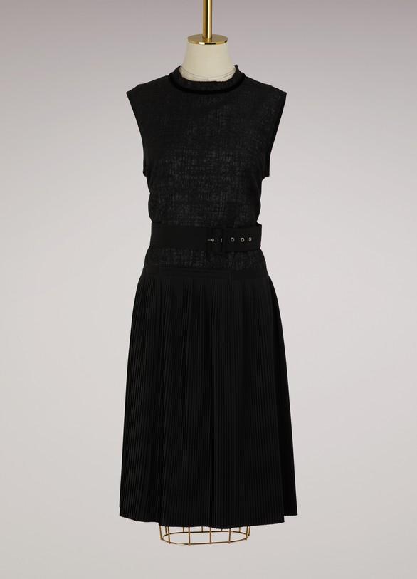 MonclerBelted sleeveless dress