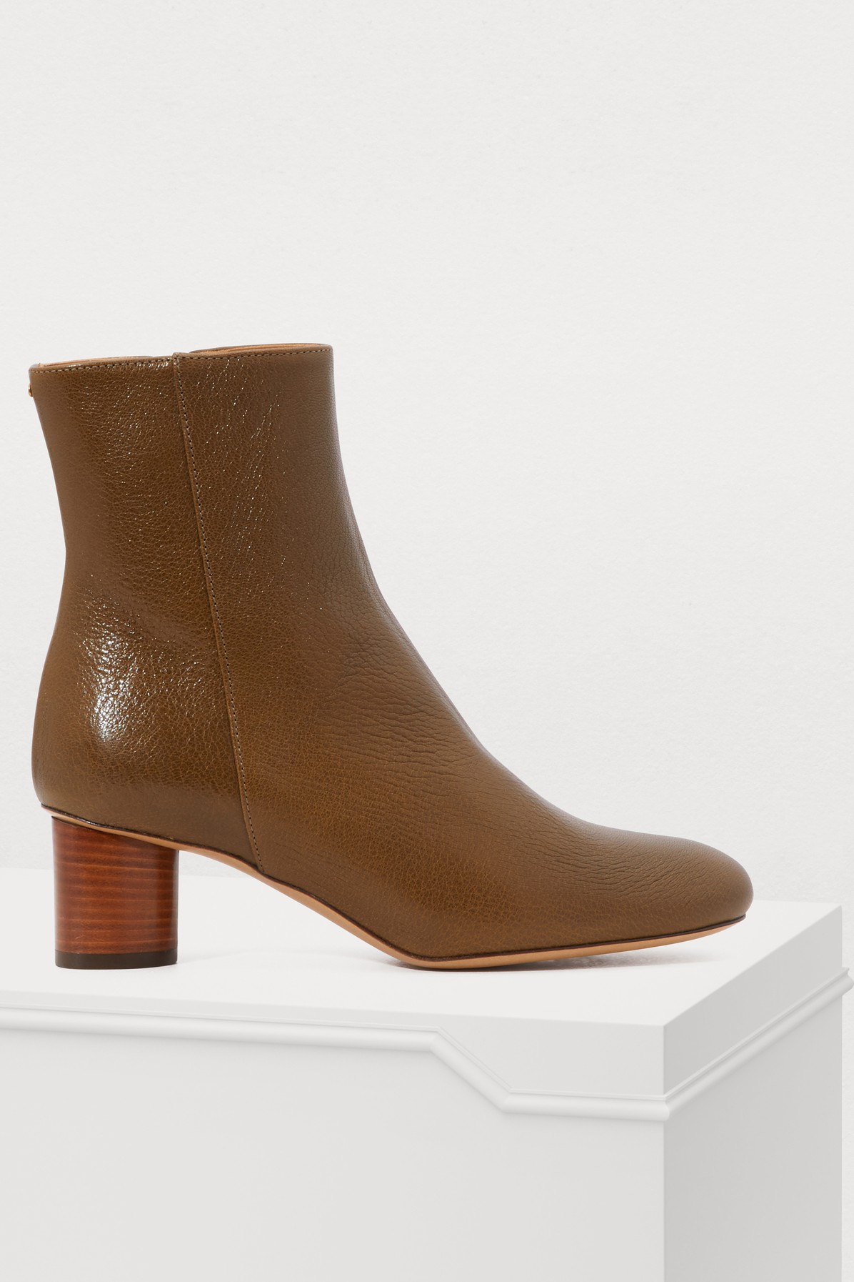 JÉRÔME DREYFUSS | Patricia Ankle Boots With Creased Effect | Goxip