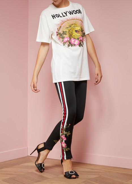 GucciFuseau en jersey avec bande Web