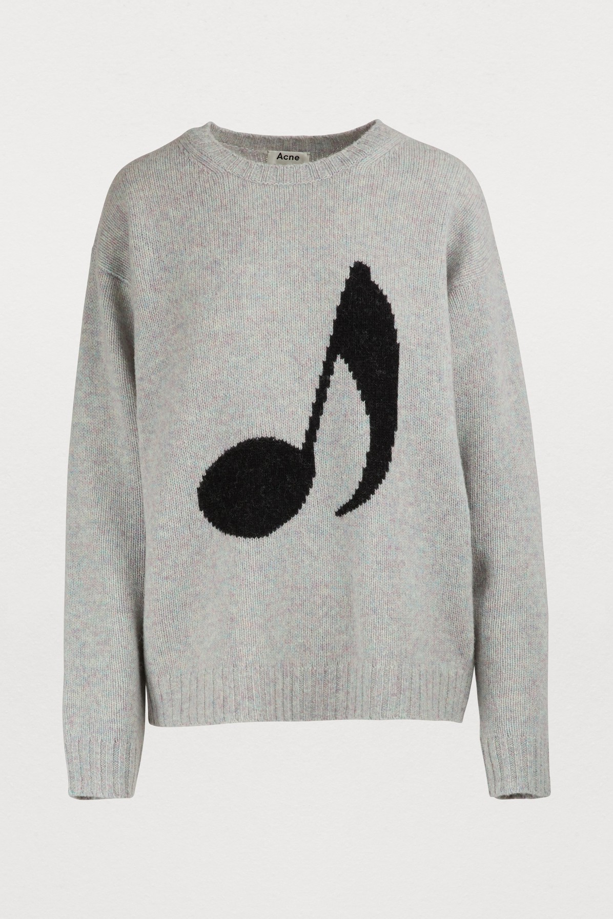 Music Note Sweater Lilac Mel/Black