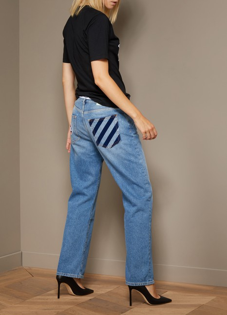 Off White Boyfriend jeans with patch