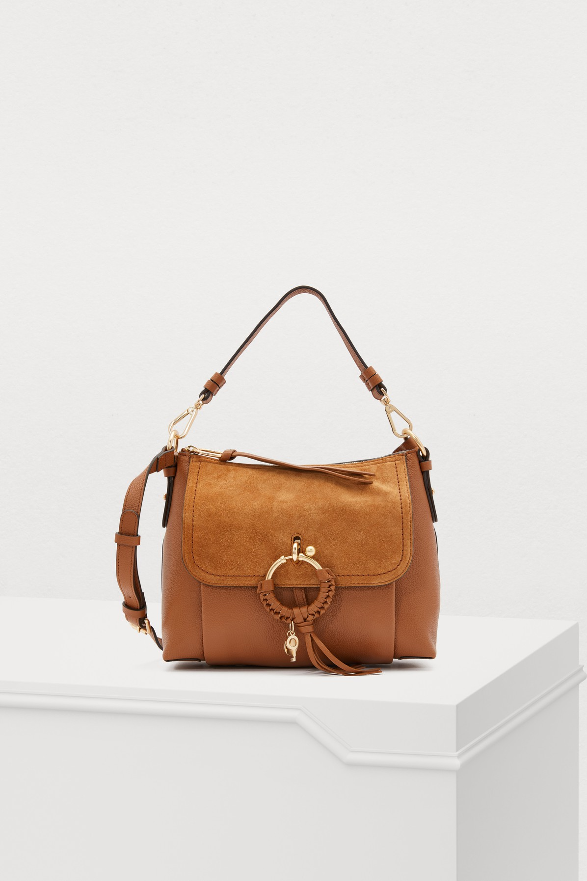 SEE BY CHLOÉ   Leather And Suede Joan Shoulder Bag   Goxip