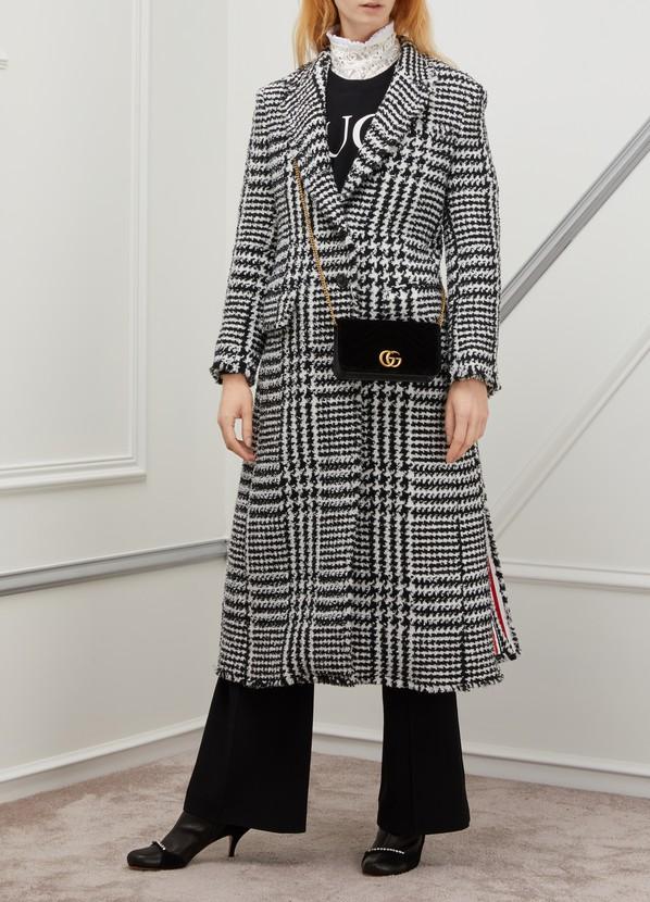 2c7b242db Women's GG Marmont velvet supermini bag   Gucci   24S   24S