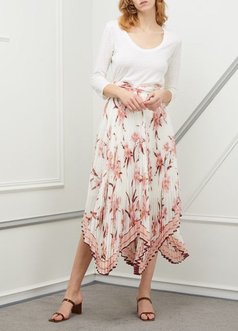 ZIMMERMANNCorsage pleated midi skirt