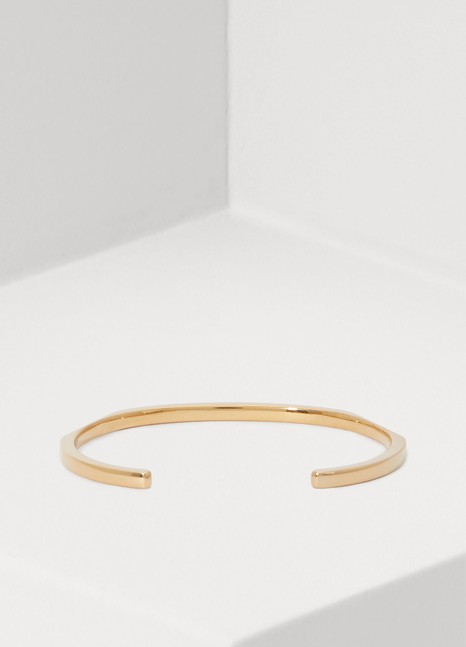 CELINE Chaîne Triomphe two facets bracelet in brass with vintage gold finish