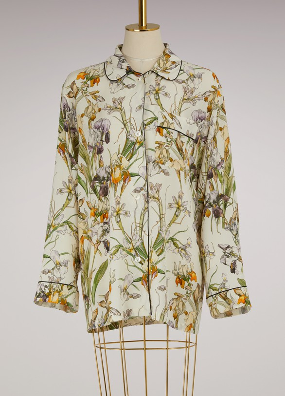 Alexander McQueenPrinted Silk Pajama Top