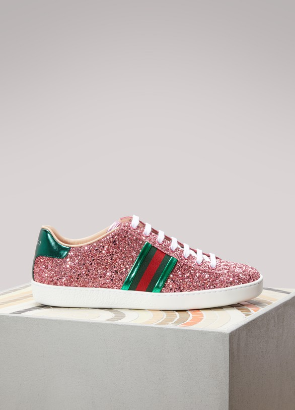 GucciAce Glitter low-top sneakers