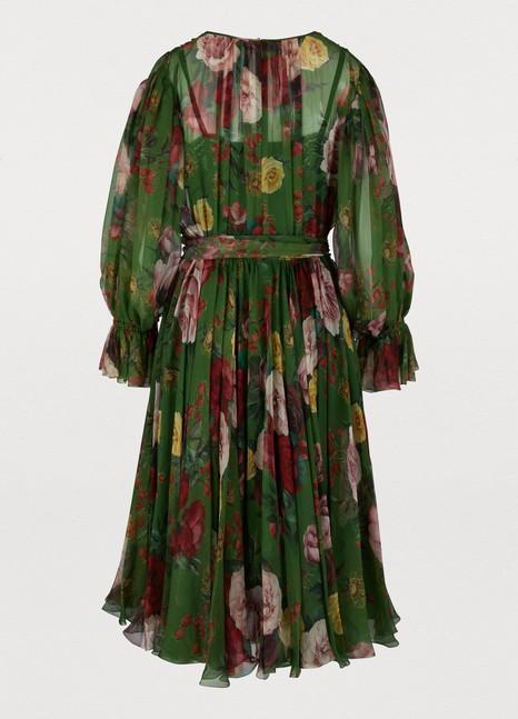 DOLCE & GABBANAFloral Baroque silk dress