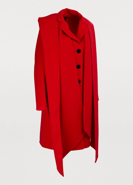 Marc JacobsCoat with hood-scarf